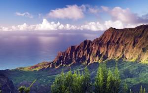 Sunset at Nā Pali Coast State Park, Kauaʻi