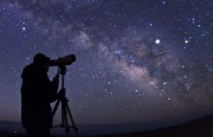 man telescope
